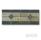 slate stone mosaic tile strip