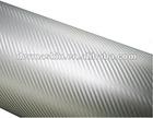 High Quality 3D Silver Texture Carbon Fibre Vinyl Twill Car Wrap Sticker Bubble Free