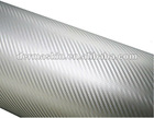 High Quality 3D Silver Texture Carbon Fibre Vinyl Twill Car Wrap Sticker Bubble Free