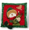 christmas snowman inflatable throw pillow