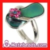 Wholesale Unique Change Color Slipper Finger Ring