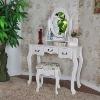(E002) Pine Wwood Bedroom Dressing Table