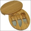 Fashionable design cheese board with knife in 3sets