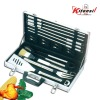 portable barbeque set with case