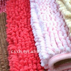 polyester chenille fabric for carpet and home textile