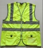Reflective safety vest,reflective jacket, reflective gilet