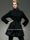 ladies long leather coats wool coat