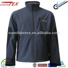 Softshell bonded micro fleece clothing for Men with two colors and teflon finished