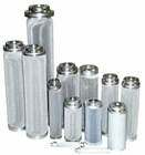 cleanable and reusable 316Lstainless steel cylindrical filter elements mesh
