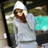 Ladies Vintage Plain Pullover Hoodie Sweatshirt