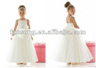 Lovely ankle length white flower girl dress
