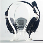 Transparent acrylic earphone holder