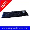 Electroplated black anti-vandalism Cherry keyswitch kiosk keyboard with trackball