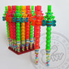 New item bee shape flute toy for kids IVY-TC253 plastic whistle with candy