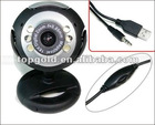 Hot Sale HD USB 2.0 6 LED Web Camera Web Cam Webcam PC Camera With Mic for Desktop PC Laptop