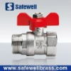 C.P. Reduced-flow Brass Ball Valve M.F. with T Handle