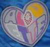 Heart-shaped Embroidery Patch