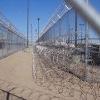 Barbed razor wire mesh