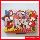 3D rubber silicone cute animal photo frame