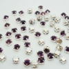 Hot sell free shipping Amethyst color 3mm,4mm,5mm,6mm,7mm silver Loose Crystal Sew On Rhinestone piece