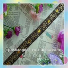 high quality,old fashion rhinestone embroidered lace