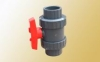 PVC double union ball valve