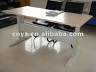 office table with metal base for variety of length to choose