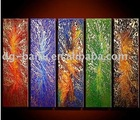 art oil paintings / group paintings 5 pcs a set