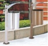 2012 new design round stainless trash