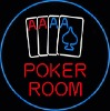 poker neon sign and display