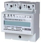 Single phase din rail watt meter LCD