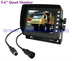 5.6inch 4:3 Digital In Car Monitor, 4 Video Inputs, Display Resolution 640*480