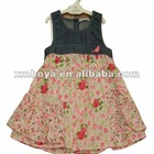 New design girls baby dress printed flower patterns