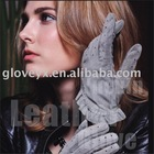 girls in leather glove