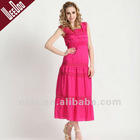 Hot sale 100% cotton lady dress,ankle length dress,long dress,maxi dress S06020