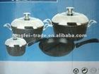 Aluminium non-stick cookware set 7pc