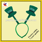 Irish festival st.patrick's hair bows green color party hat headband