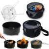 portable grill with cooler bag / bbq set with cooler bag / mini charcoal bbq grills