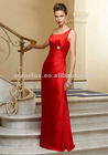 Chili Silky Chiffon One Shoulder Gown with Beading Floor Length Bridesmaid Dress