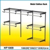 1.8m Metal Closet Shelving Kit with chrome finish and Satin Nickel Surface treatment