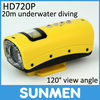HD720P Night Vision Sports Camera Mini DVR Support Diving Underwater