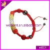 hot style red colour handmade shambhala bracelet
