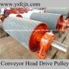 drawing conveyor belt drive pulleys