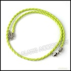 2012 Popular Green Leather Cord Fit Charms Bracelet