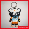 Cartoon bear style silicone keychain