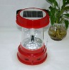 portable solar camping lantern with radio and mobile charger