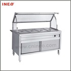 4 Pans Food warmer with cabinet(S/S Bain Marie)