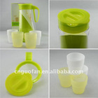 plastic tea cup tea pot travel tea set