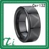 Cer132 8mm Mens Black Ceramic knuckle ring