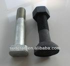 Square head track bolt of railroad fasteners